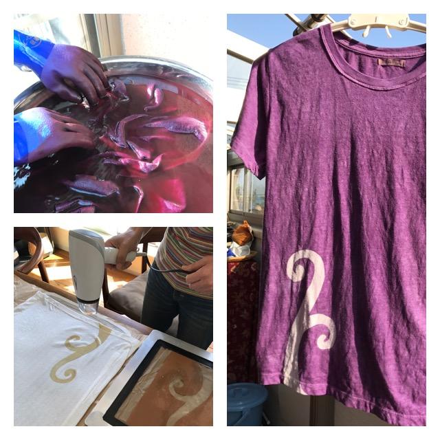 紫根TシャツWS