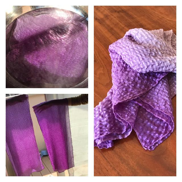 紫根染めシルクストール